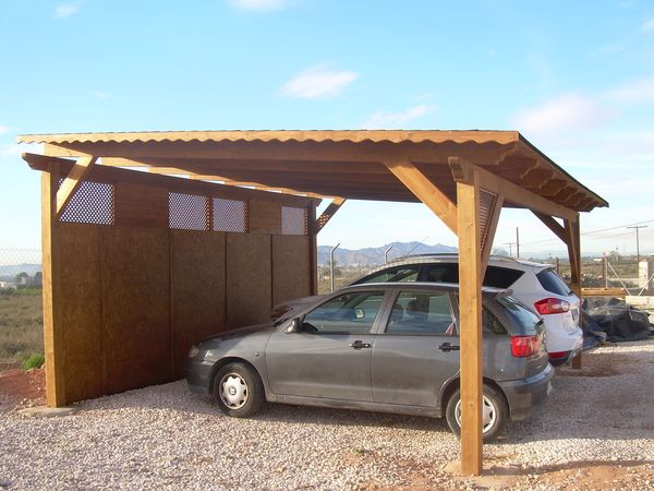 Naturfusta fabricaci n de garajes de madera en alicante - Garajes prefabricados de madera ...
